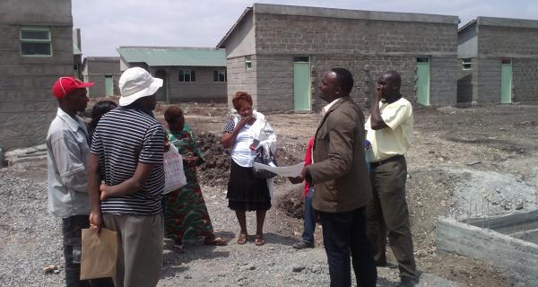 Semba Tuvike and KiteMoto Housing Cooperatives in discussion with NACHU Technical team on their housing project progress