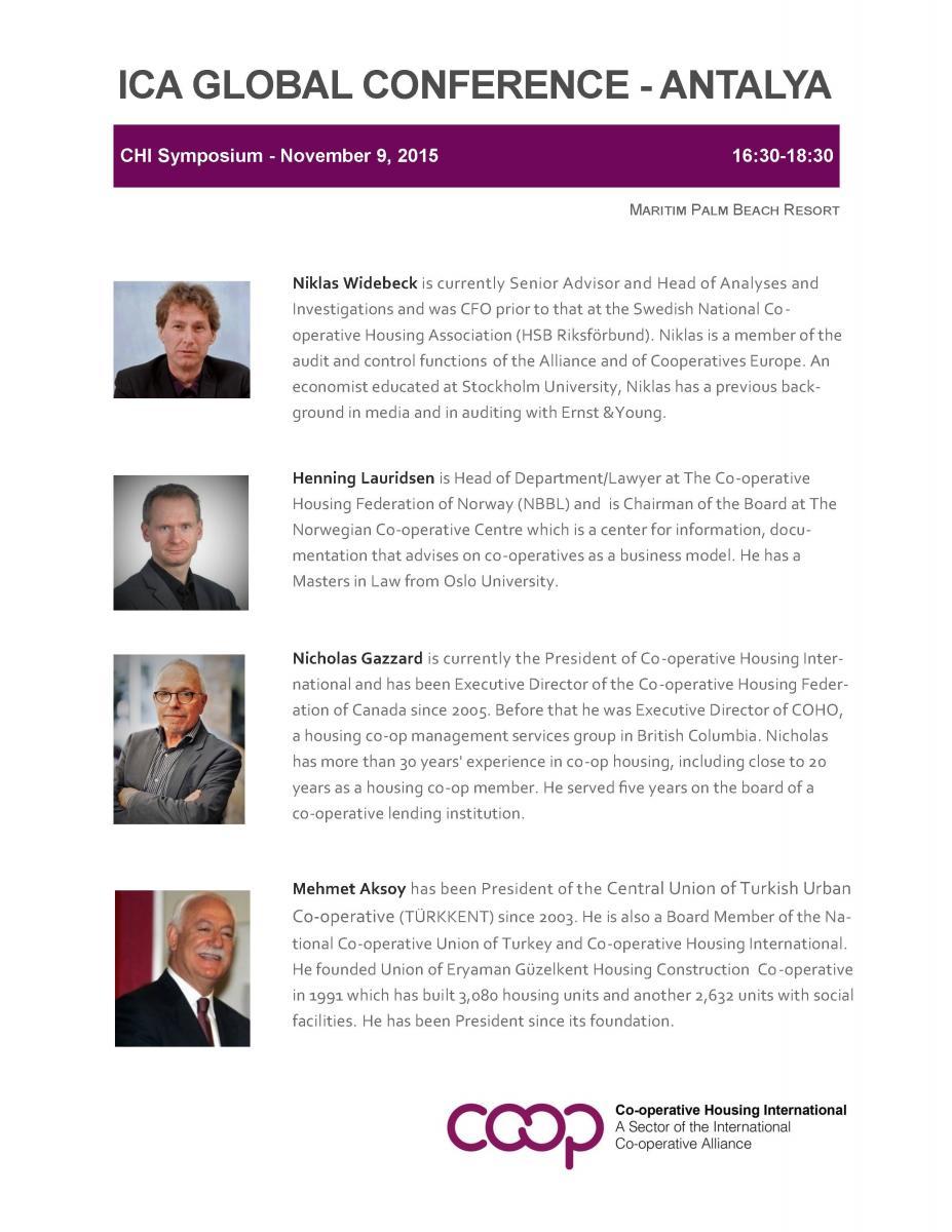 CHI Symposium 2015